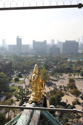 鯱鉾と大阪市内の眺め